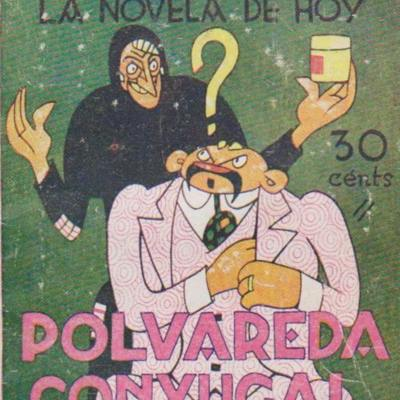 Polvareda conyugal, portada de La novela de hoy (1929)