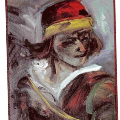Ilustración de Pármeno de la edición de Albacete (1999)