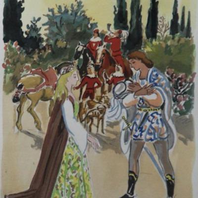 Ilustración primera del  Acto I de la edición de París (1976)