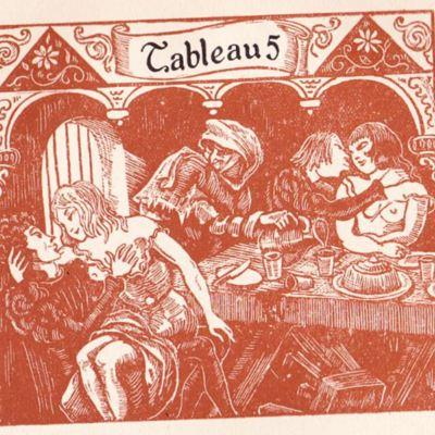 Imagen del acto IX de la edición de París (1943)