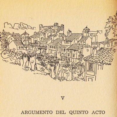 Ilustración del acto V de la edición de Barcelona (1967)