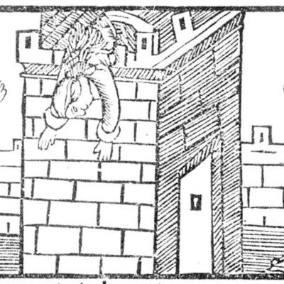 Ilustración segunda del acto XX de la edición de Roma: Marcelo Silber, 1515 (colofón Stanislao Polono, Sevilla, 1502)