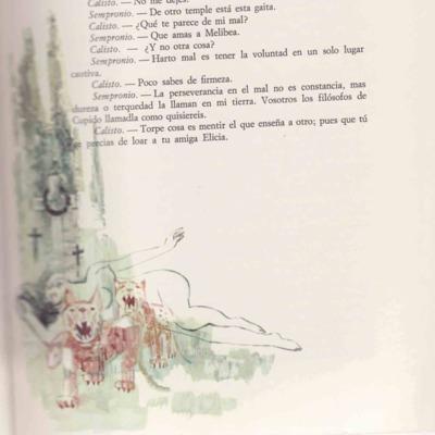 Ilustración segunda del acto I de la edición de Barcelona (1968)