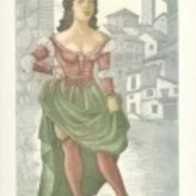 Ilustración de Elicia de la edición Barcelona, 2000.
