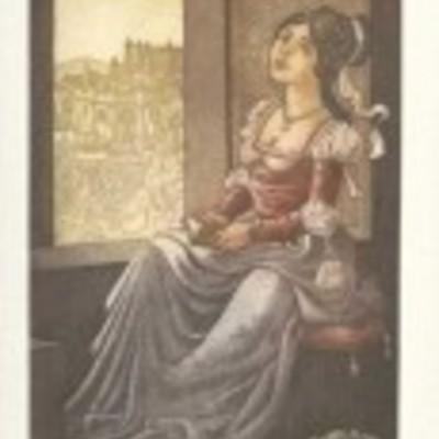 Ilustración de Melibea de la edición Barcelona, 2000.