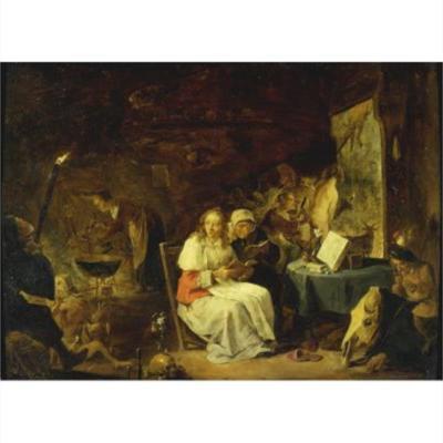 El encantamiento, de Teniers (1650. c.)