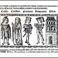 Grabado del acto XI de la edición de Valencia (1514)