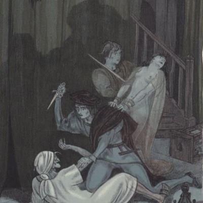 Ilustración segunda del acto XIV de la edición de París (1949)