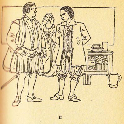 Ilustración del acto II de la edición de Barcelona (1967)