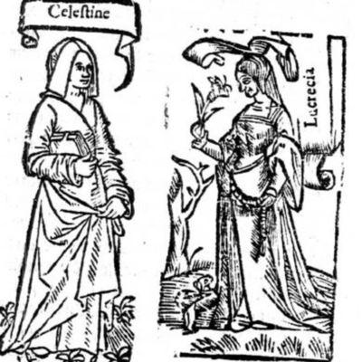 Ilustración del acto IV de la edición de París (1542)