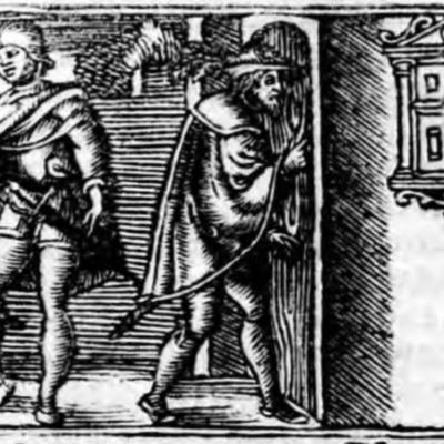 Ilustración primera del acto XII de la edición de Zaragoza (1545)