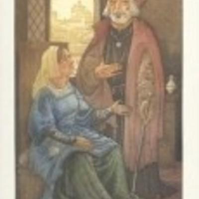 Ilustración de Alisa y Pleberio de la edición Barcelona, 2000.