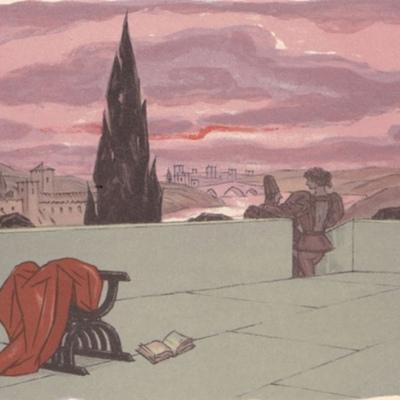 Ilustración primera del acto II de la edición de París (1949)