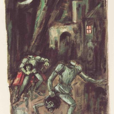 Ilustración tercera del acto XIII de la edición de Barcelona (1968)