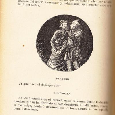 Ilustración segunda del acto VIII de la edición de Barcelona (1883)