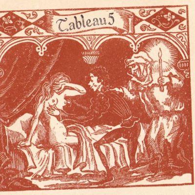 Imagen del acto VII de la edición de París (1943)
