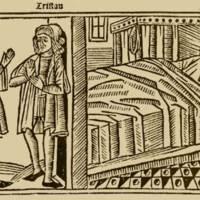 Grabado del acto XIII de la edición de Burgos (1499)