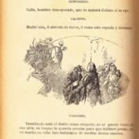 Ilustración primera del acto VI de la edición de Barcelona (1883)
