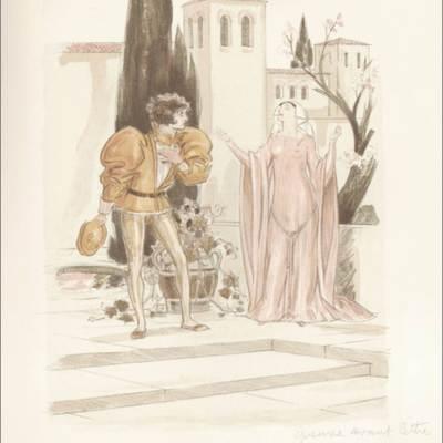 Ilustración segunda del acto I de la edición de París (1949)