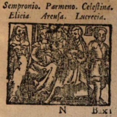 Imagen del acto IX de la edición de Salamanca (1590)