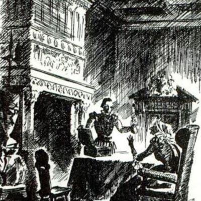 Ilustración quinta del acto I de la edición de París (1989)