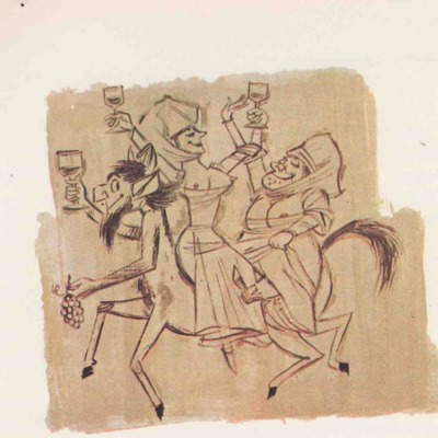 Ilustración primera del acto VIII de la edición de Barcelona (1968)