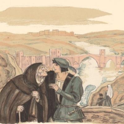 Ilustración primera del acto I de la edición de París (1949)