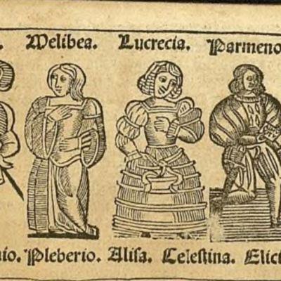Primera ilustración del acto XII de la edición de Zaragoza, 1545