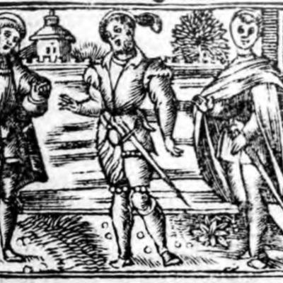 Ilustración del acto II de la edición de Zaragoza (1545)
