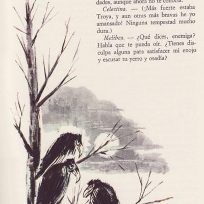Ilustración tercera del acto IV de la edición de Barcelona (1968)
