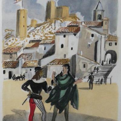 Ilustración del acto II (?) de la edición de París (1976)