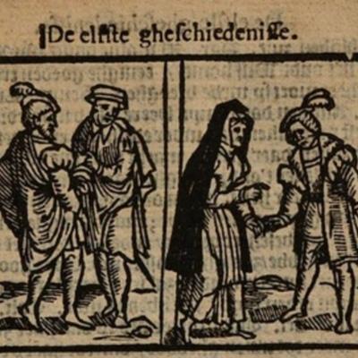 Ilustración del acto XI de la edición de Amberes (1616)