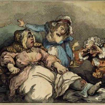 La alcahueta en sus últimos coletazos, de Rowlandson (1792)