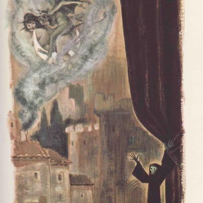 Ilustración segunda del acto XI de la edición de Barcelona (1968)