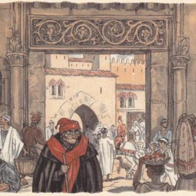 Ilustración primera del acto V de la edición de París (1949)