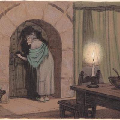 Ilustración cuarta del acto XII de la edición de París (1949)