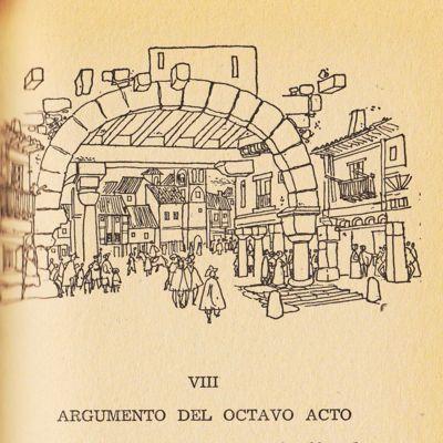 Ilustración del acto VIII de la edición de Barcelona (1967)