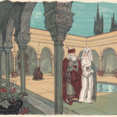 Ilustración primera del acto XVI de la edición de París (1949)