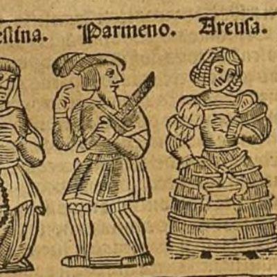 Ilustración del acto VII de la edición de Zaragoza, 1545