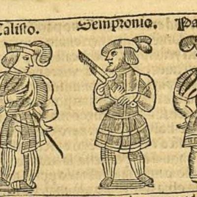 Ilustración del acto II de la edición de Zaragoza, 1545