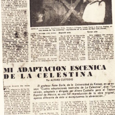 Representación del Teatro Español de México, 1953-1960