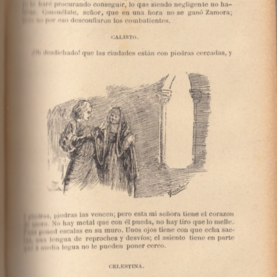Ilustración segunda del acto VI de la edición de Barcelona, (1883)