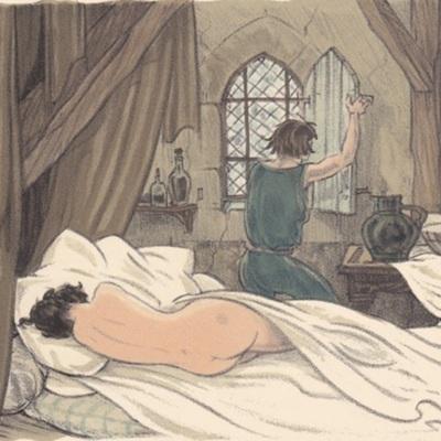 Ilustración primera del acto VIII de la edición de París (1949)
