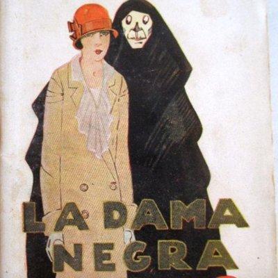 La dama negra, portada de La novela de hoy (1925)