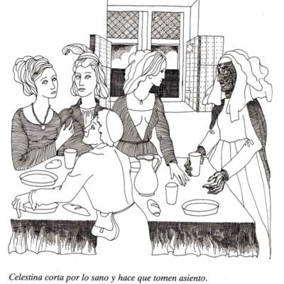 Ilustración del acto IX de la página 61 de la edición Barcelona, 1988.