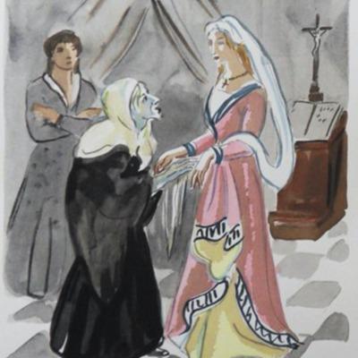 Ilustración del Acto X de la edición de París (1976)
