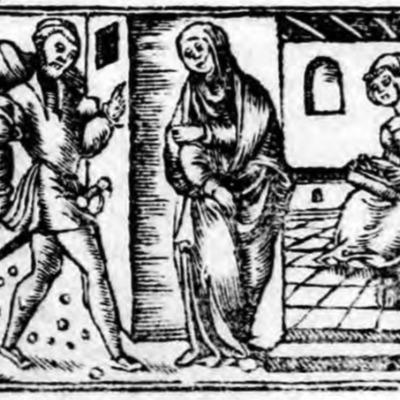 Ilustración del acto III de la edición de Zaragoza (1545)