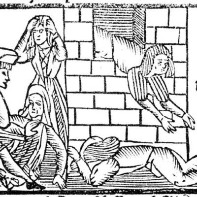 Ilustración primera del acto XIII de la edición de Roma: Marcelo Silber, 1515 (colofón Stanislao Polono, Sevilla, 1502)