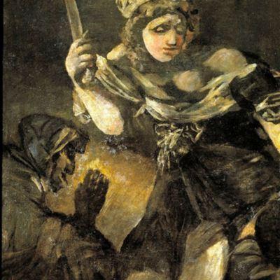 Judit y Holofernes de Goya, (1819 c.)