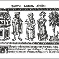 Grabado del acto XX de la edición de Valencia (1514)